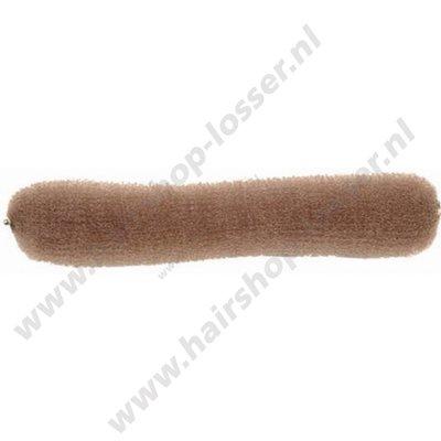 Knotrol met drukknoop18 cm licht bruin