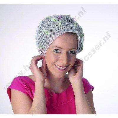 Haarnet driekant roze
