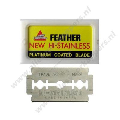 feather platinum coated razor blades 10st